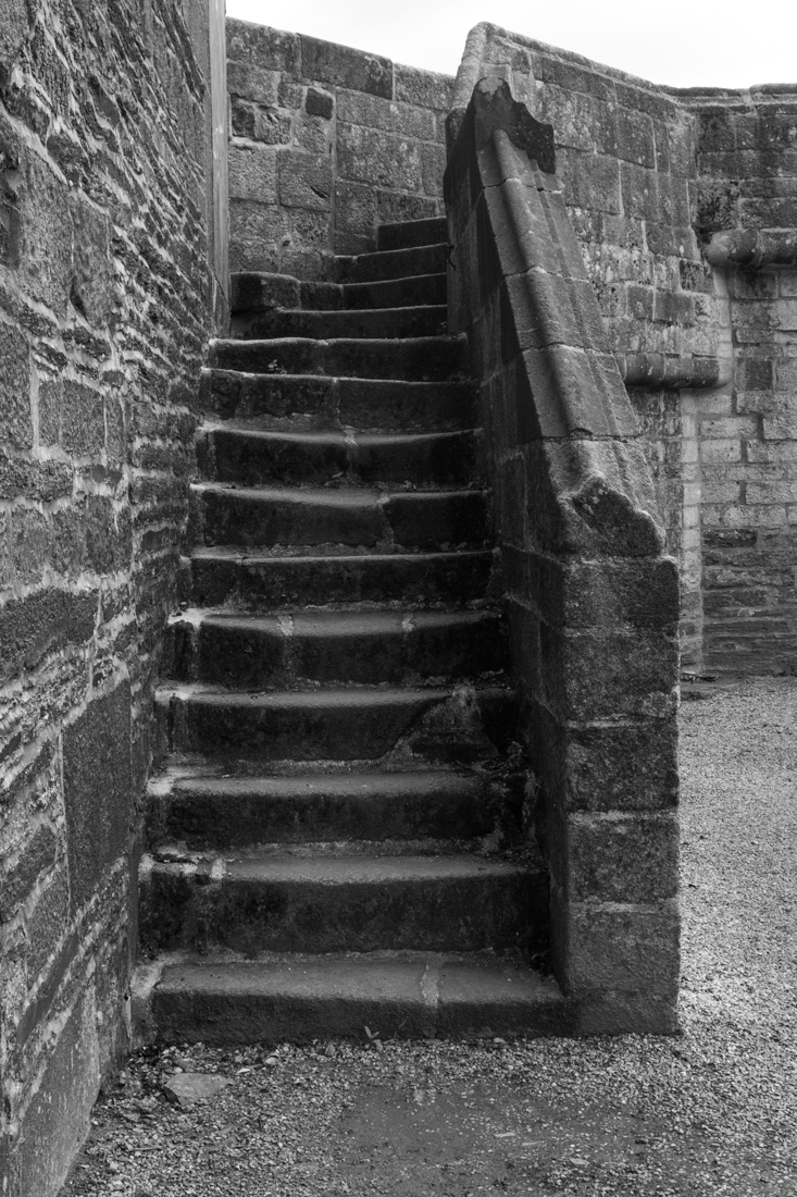 The stair to the top of the Triumphal Arch of La Martyre Church