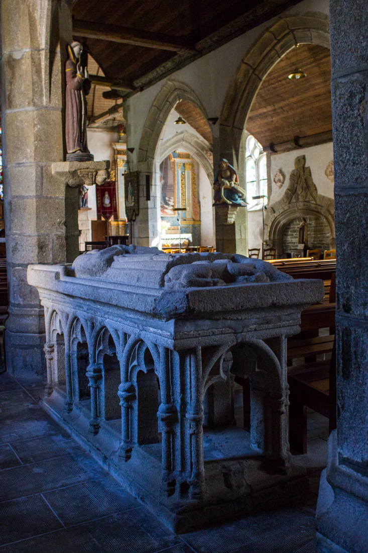 The Tomb of St Edern in Lannedern Church
