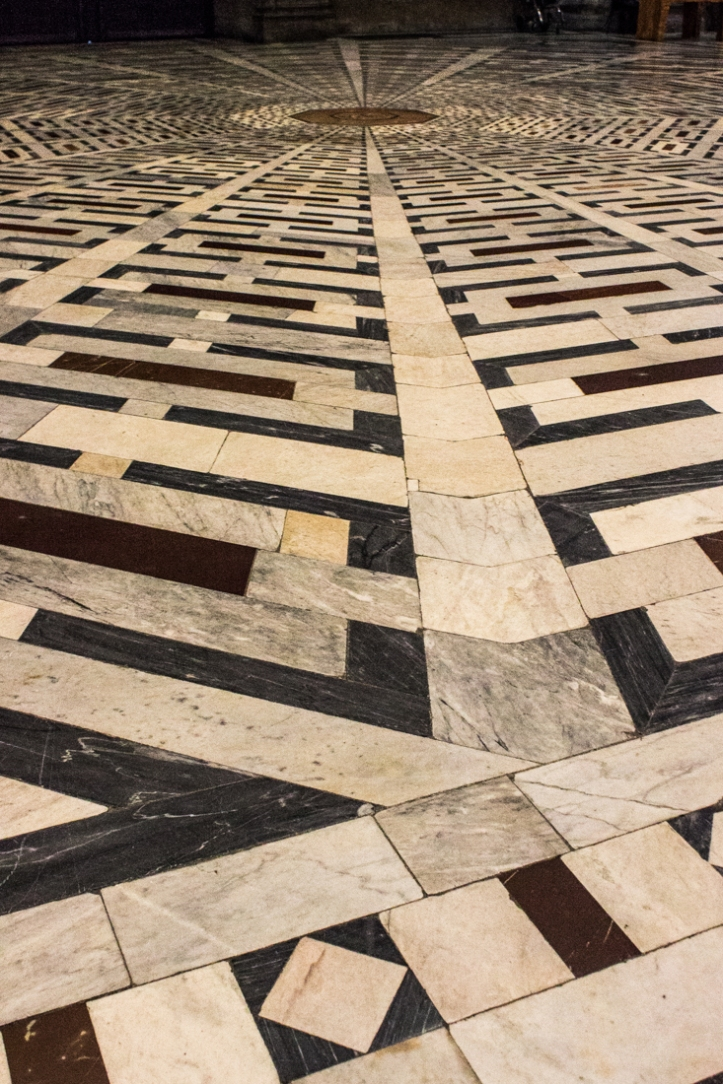 The marble floor of the Cathedral in Florence