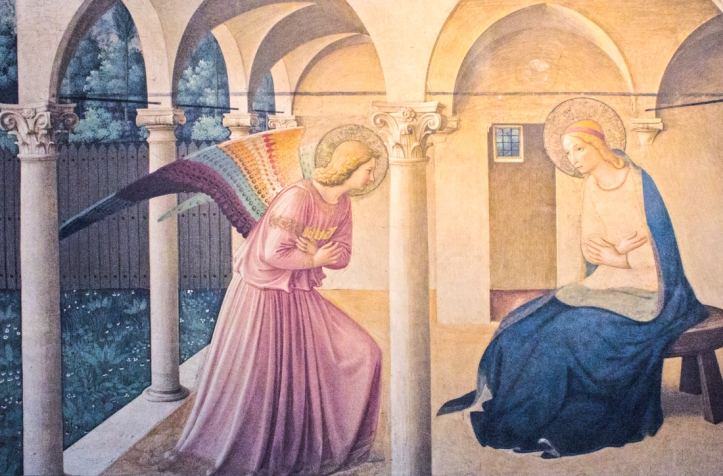 The Annunciation by Fra Angelico, Convent of San Marco