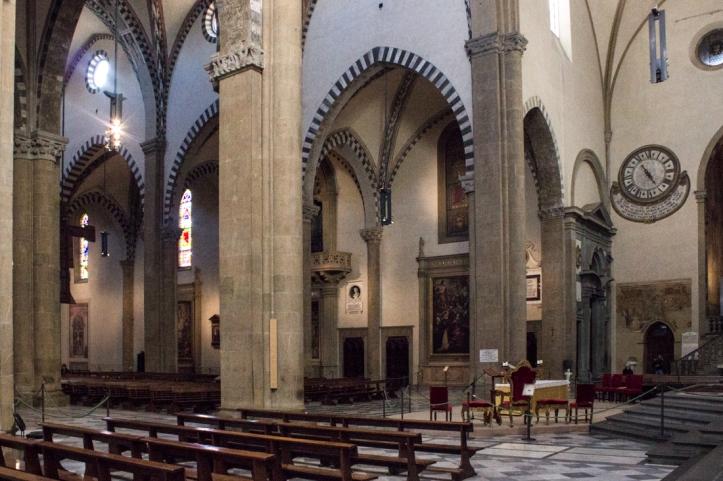 The nave of the Church of Santa Maria Novella