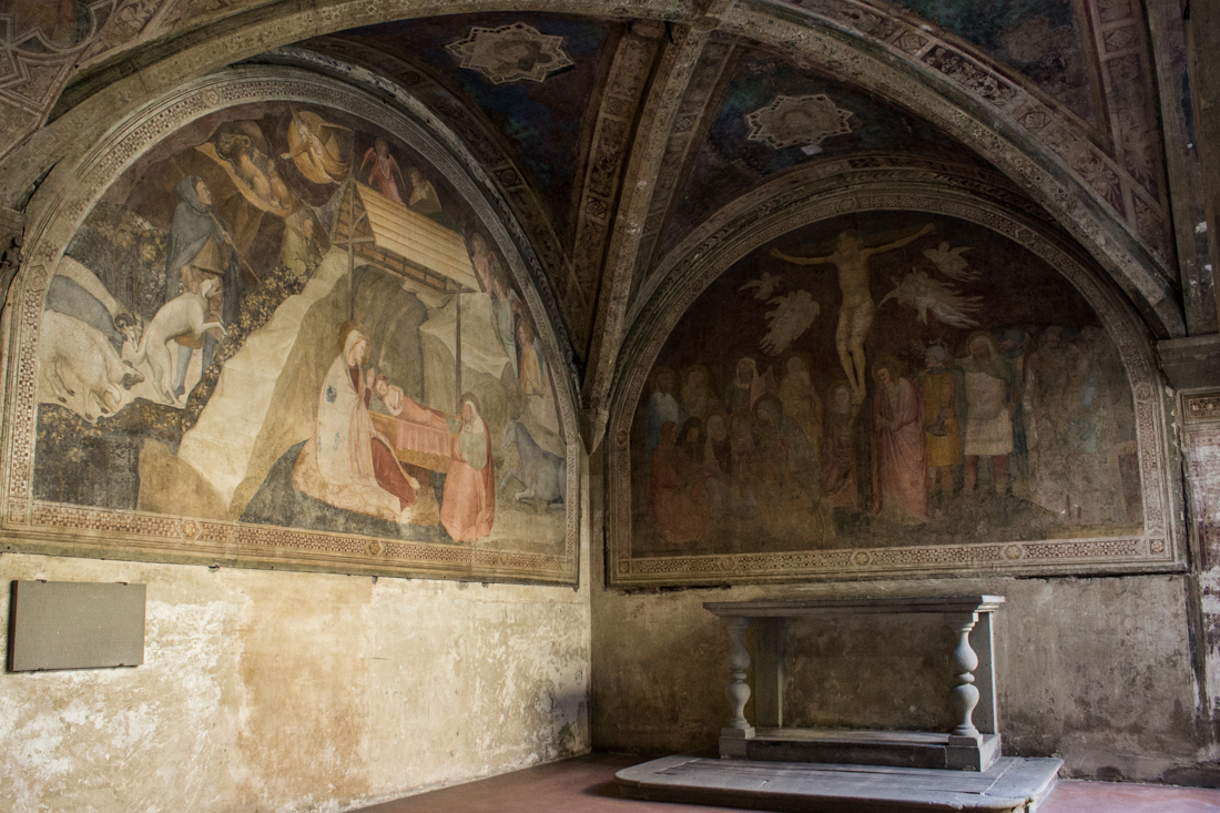 The Chapel of the Annunciation, painted by Orcagna in the 1340s