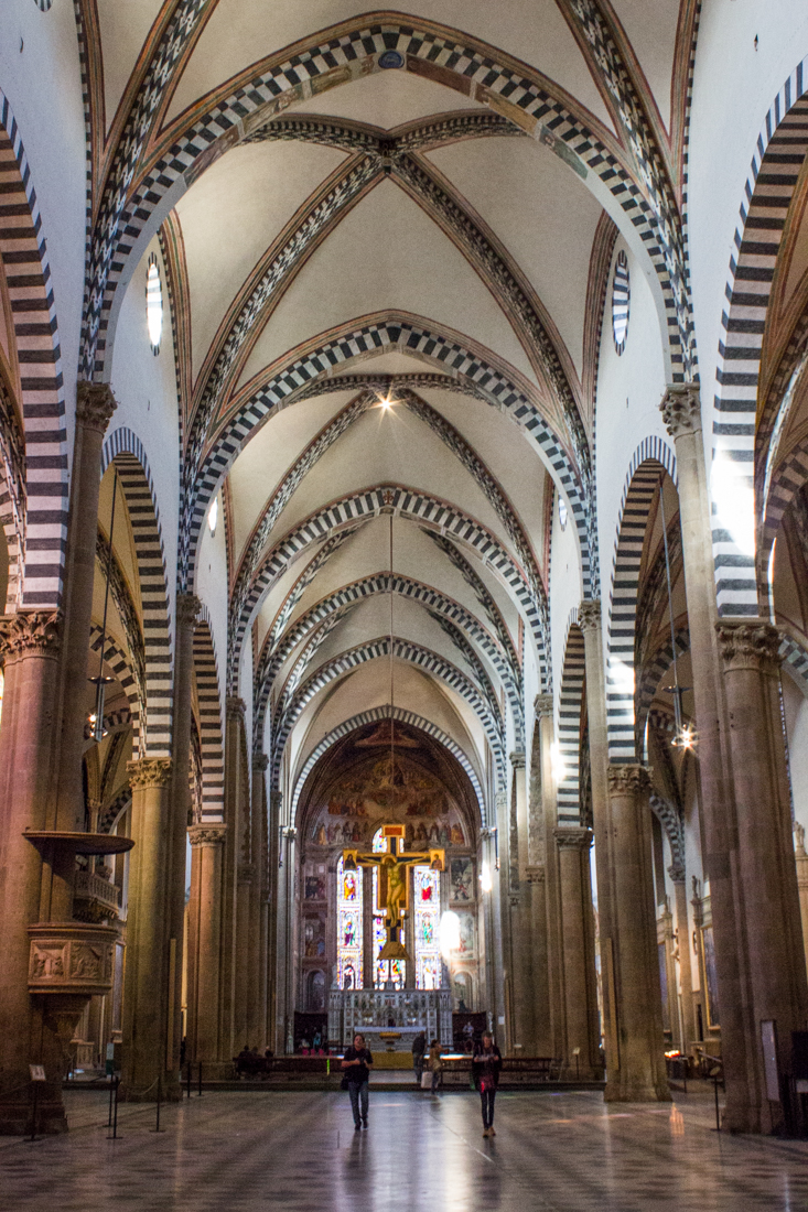The nave of the Church of Santa Maria Novella