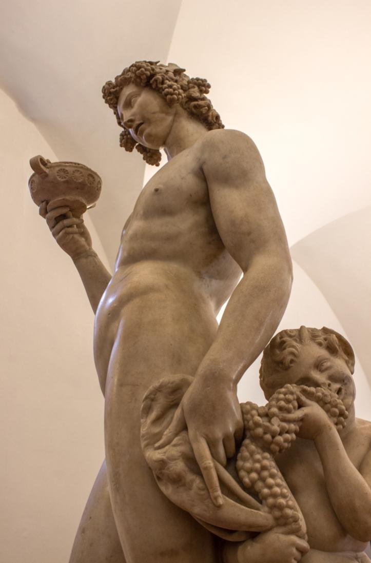 Bacchus by Michelangelo, 15C