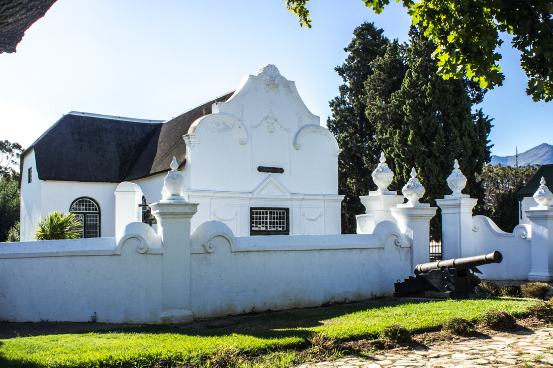 The wall around the old Church in Tulbagh