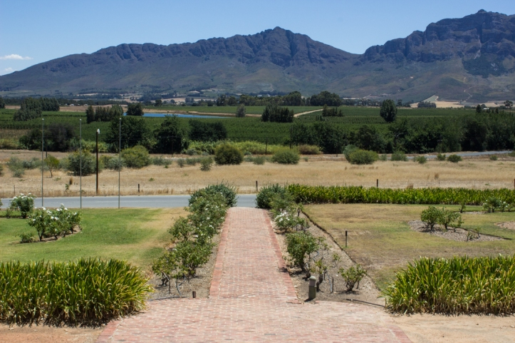 The outlook from The Old Drostdy, Tulbagh