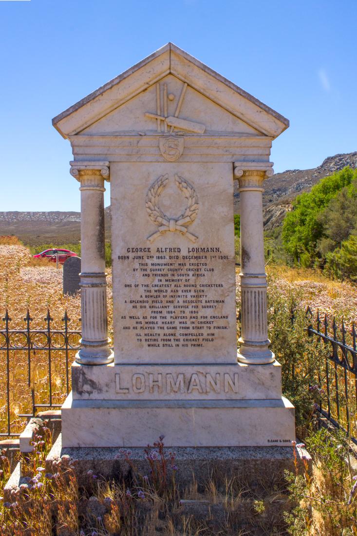 Lohman's grave in the Matjiesfontein Graveyard