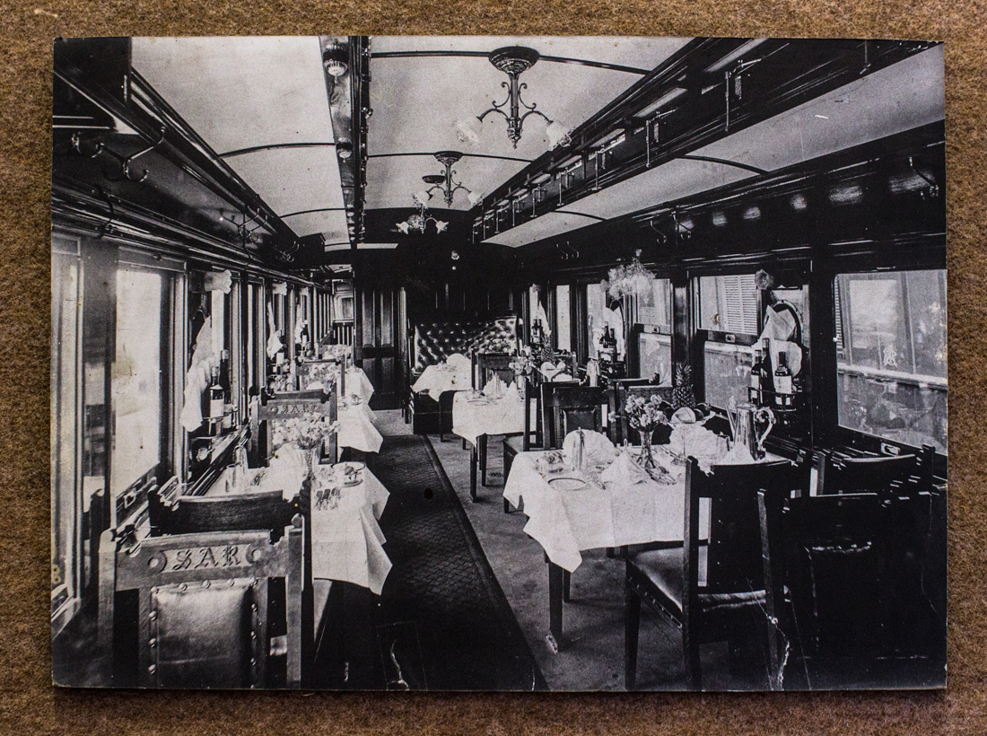Railway carriage (undated) in the Matjiesfontein Museum
