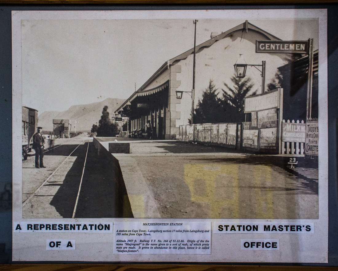 An early, undated photograph of the station at Matjiesfontein