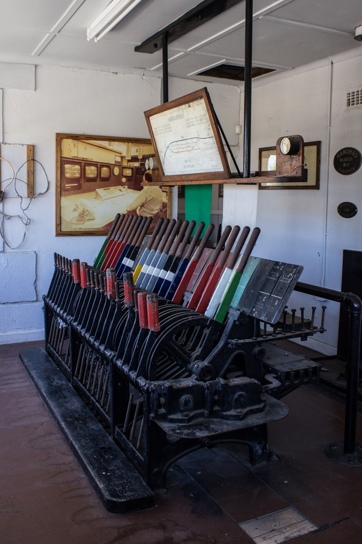The old control room of the station at Matjiesfontein