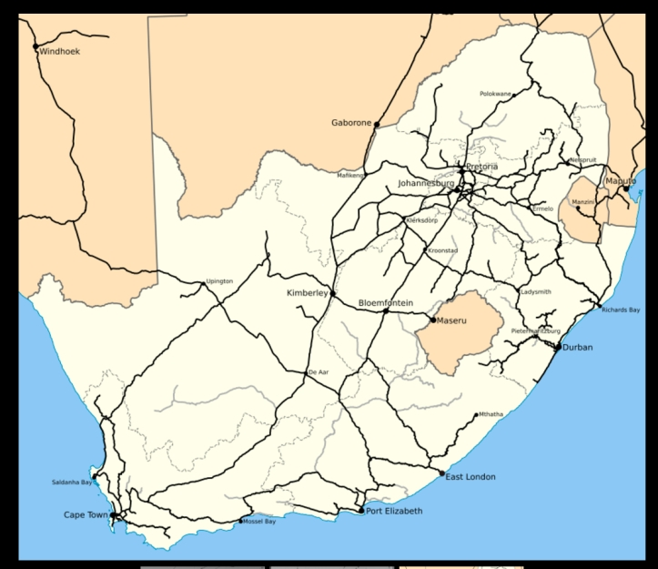South African railway network in 2017