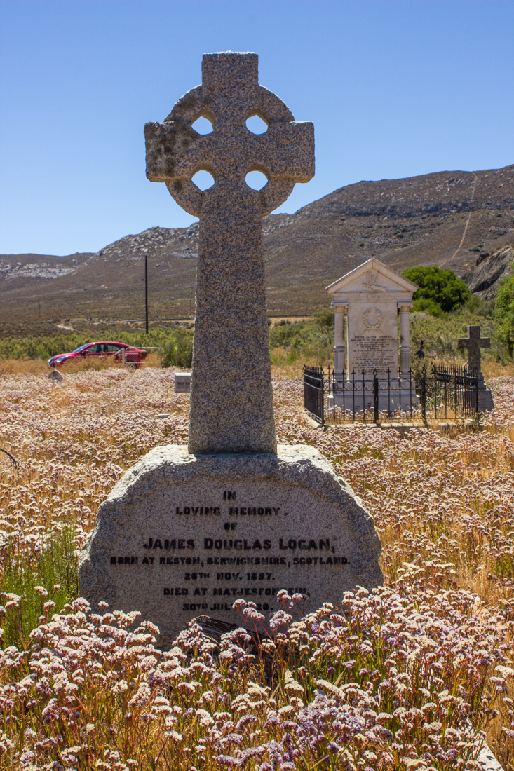 James Logan's grave in the Matjiesfontein Graveyard