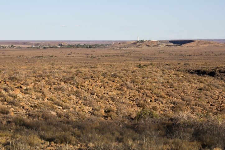 Karoo National Park with Beaufort West in the distance