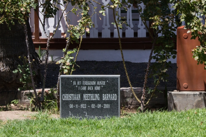 Christiaan Barnard's grave at his family home