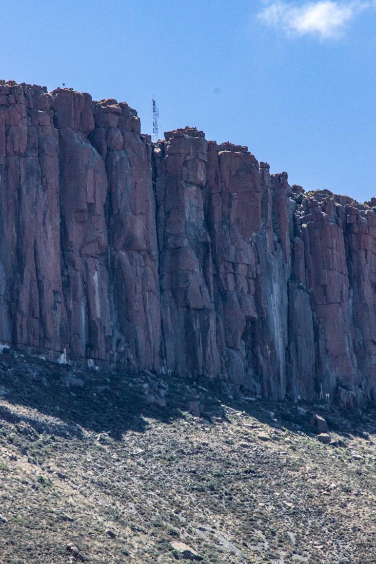 Sandstone cliffs in the Karoo National Park