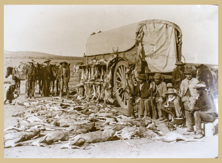 Hunting party in 19th century Karoo
