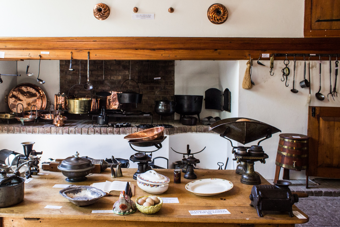 The kitchen in Reinet House