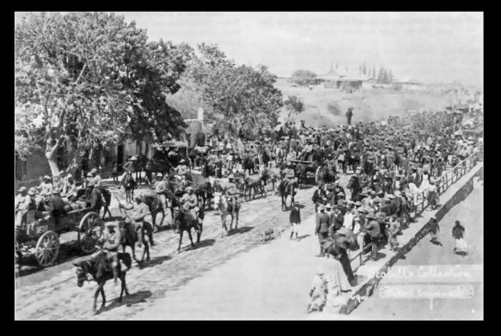 Lotters Commando escorted into Graaff Reinet by Lt Colonel Scobells men, 1901