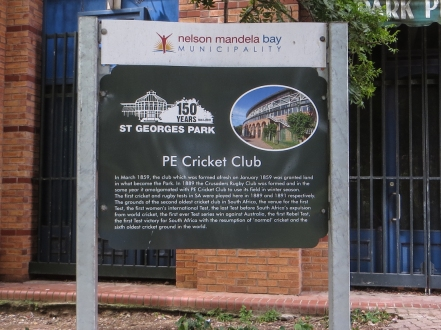The PE Cricket Club in St George's Park