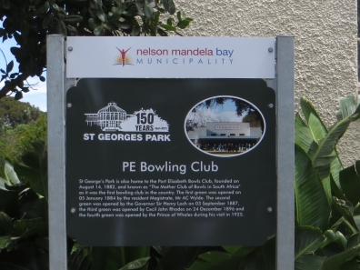 PE Bowls Club in St George's Park
