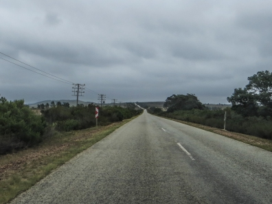 A grey road and day