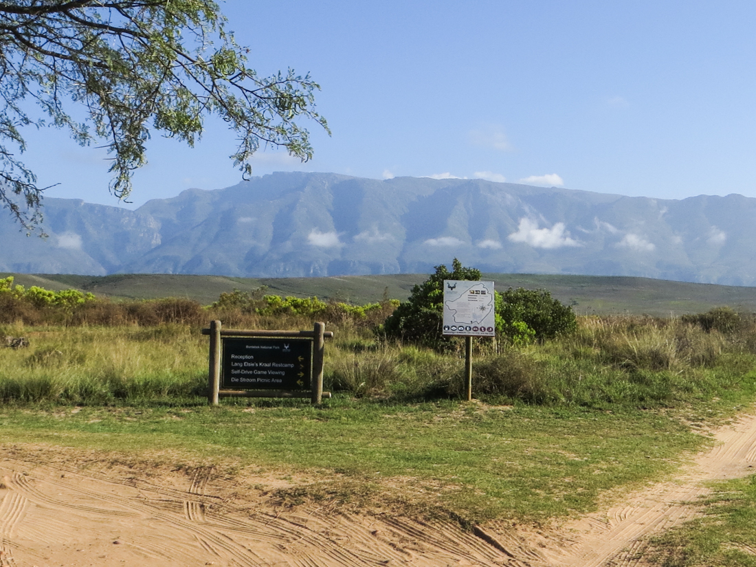 The car park in the Bontebok National Park