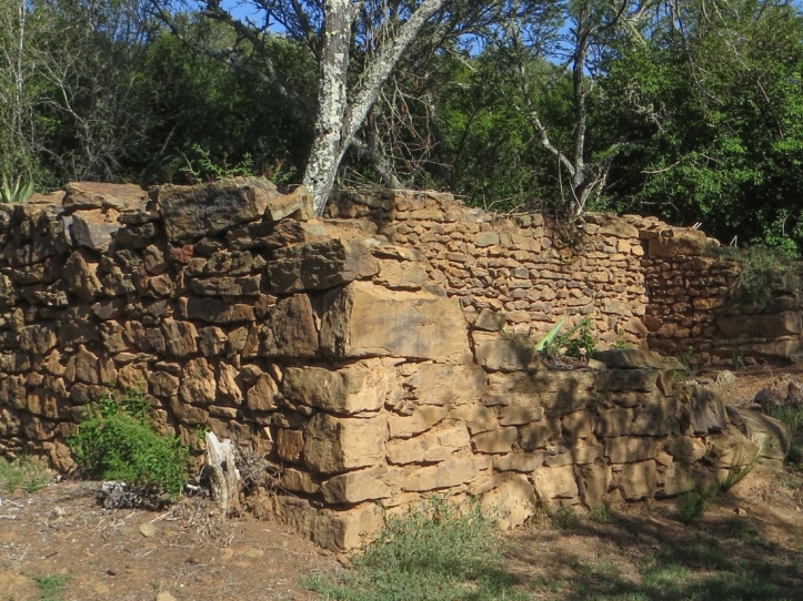 The remains of Lang Elsie's house in the Bontebok National Park