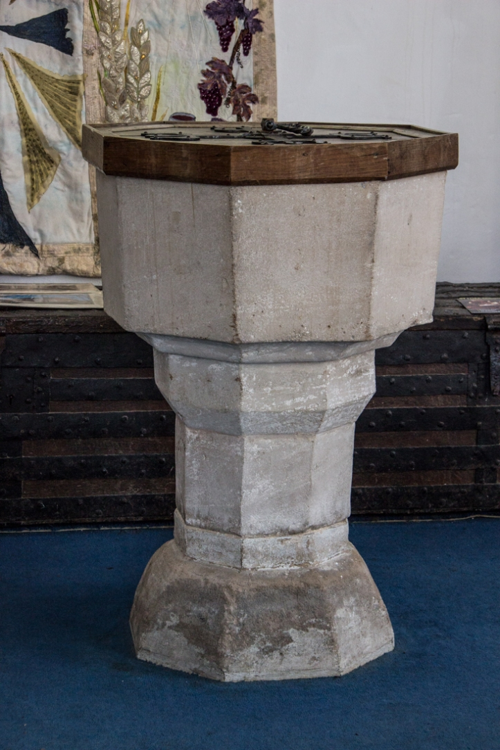 The font in Fressingfield Church
