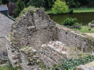 The ruins of the Priory of St Michel, Moncontour