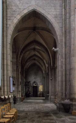 The interior of the Church of Notre Dame de Delivrance