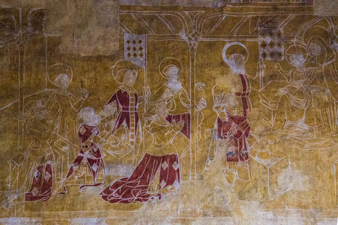 Wall painting, St Jacques in St Leon
