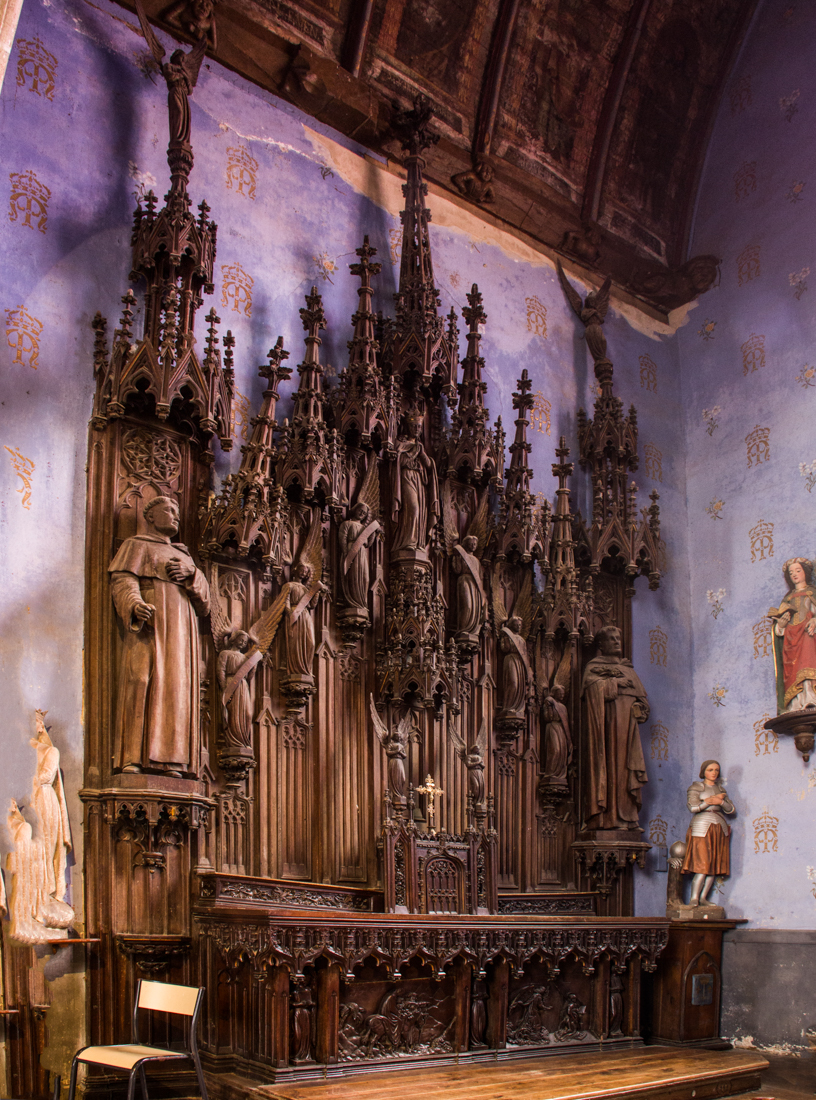 Wooden Altarpiece in the Church of Le Quillio