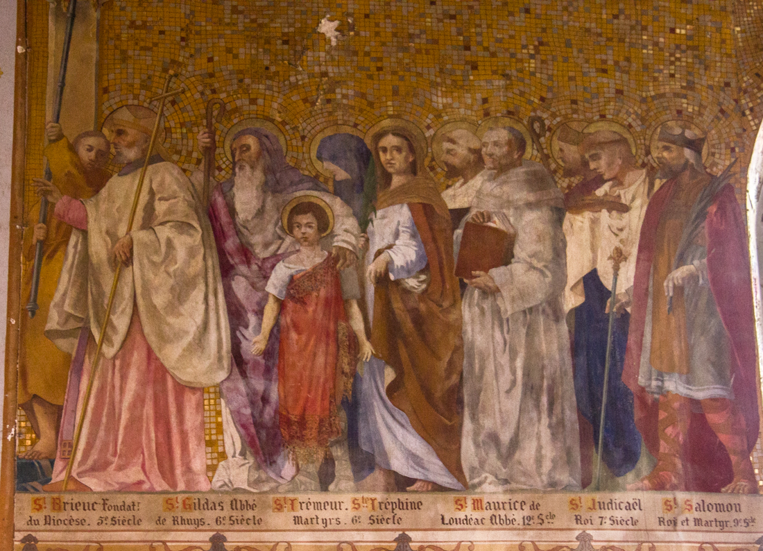 Wall paintings in the Church at Le Quillio