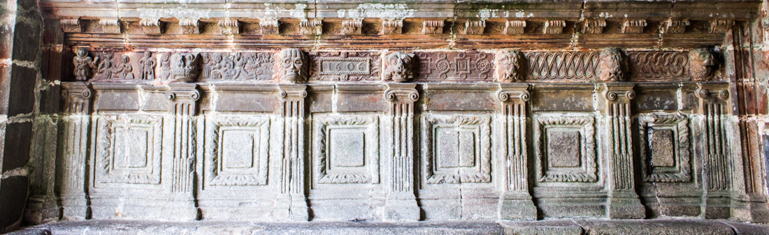 The frieze below the Apostles in the South Porch of the Church at Guimiliau
