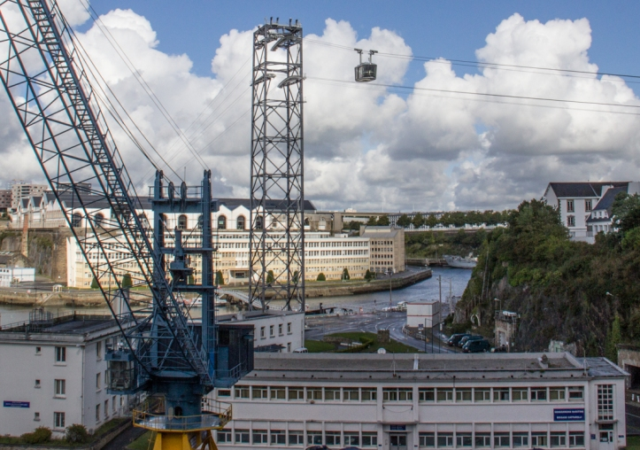 Cable Car crossing of the River Penfeld in Brest
