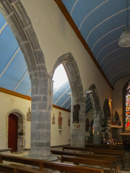 The interior of the Chapel of La Fontaine Blanche