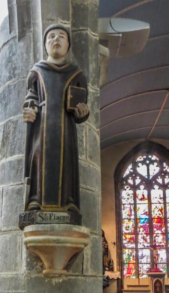 St Fiacre in the Chapel of La Fontaine Blanche