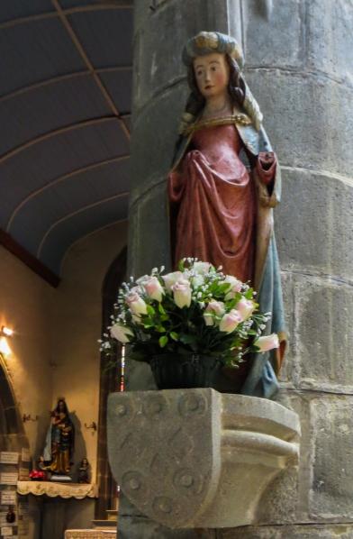 St Barbara in the Chapel of La Fontaine Blanche