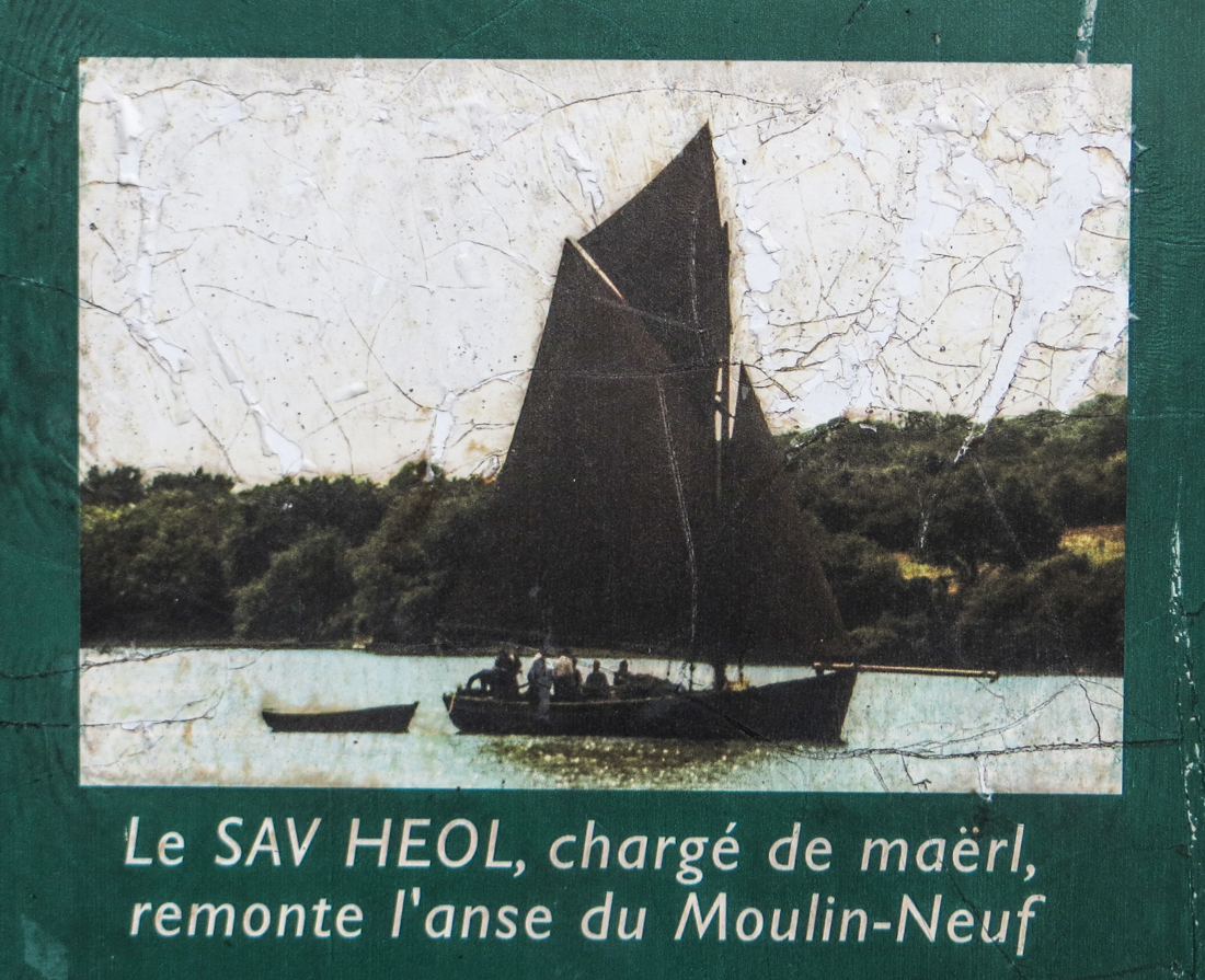 Noticeboard at Anse du Moulin Neuf
