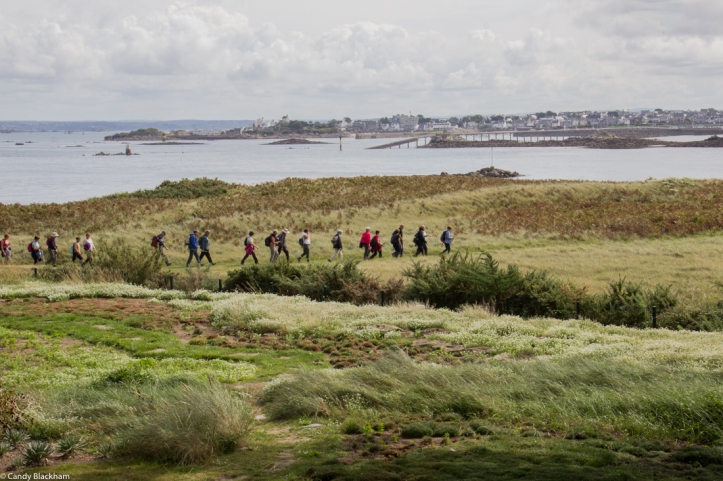 Walking the coastal path with Roscoff in the background