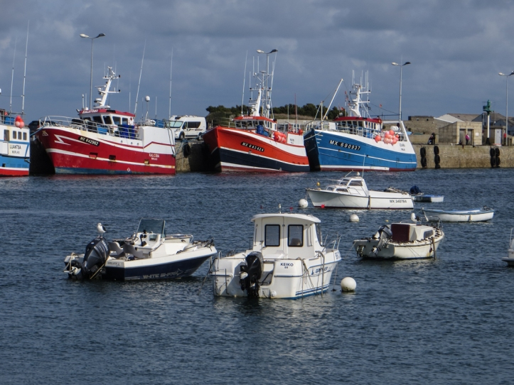 The fishing harbour in Roscoff