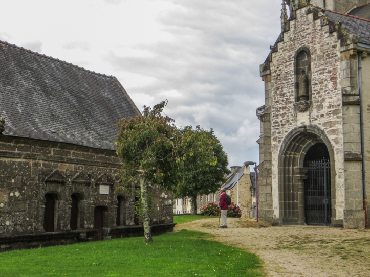 The Ossuary & South Porch of the Church of St Pierre, Hanvec