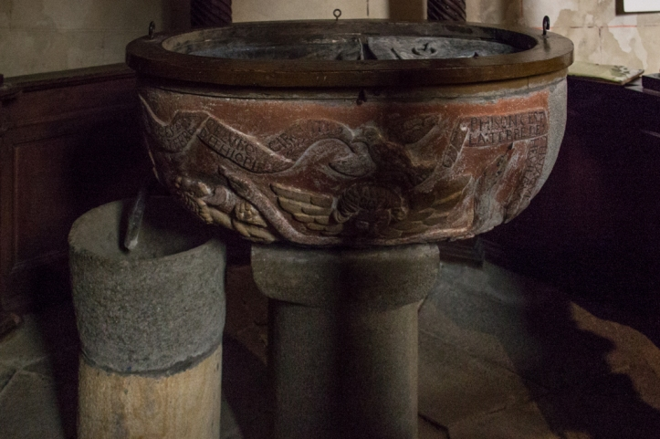 The font in the Church of Saint Sauveur in Le Faou