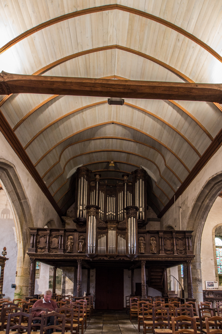 The organ in the Church at Lampaul-Guimiliau