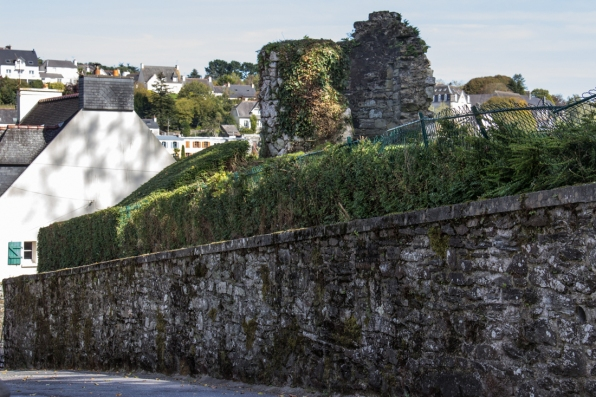 The ruins of the Castle, Morlaix