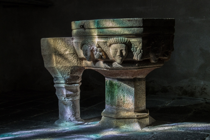 The Font in the Church of St Etienne, Plouezoc'h