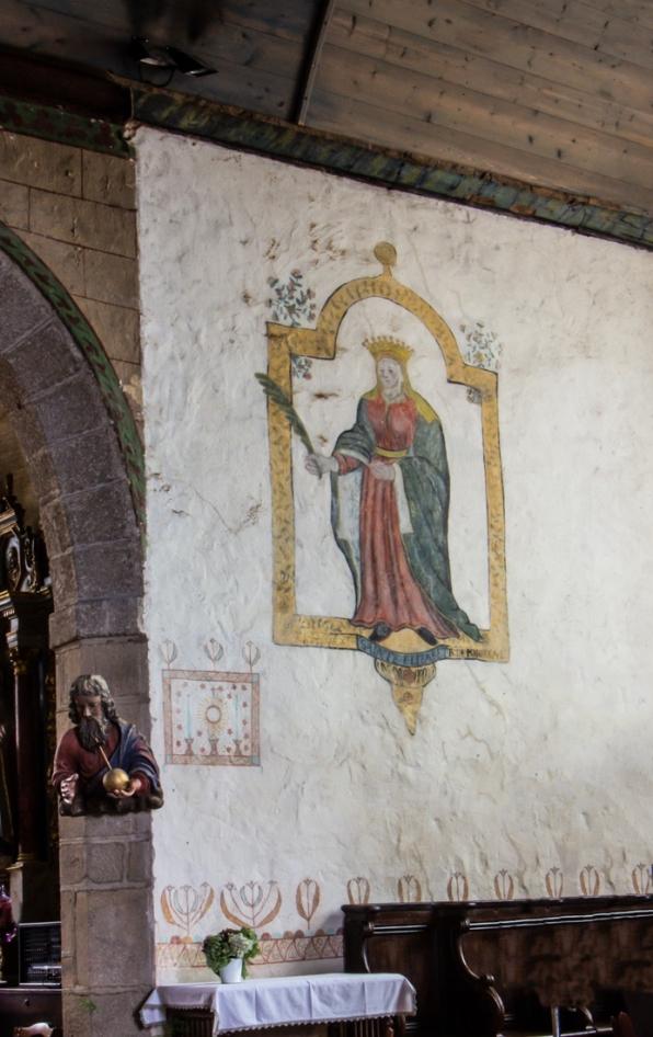 Wall paintings in Argol Church