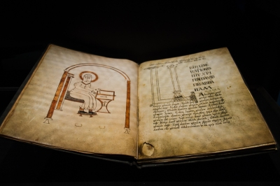 Manuscripts in the Museum at Landevennec Abbey