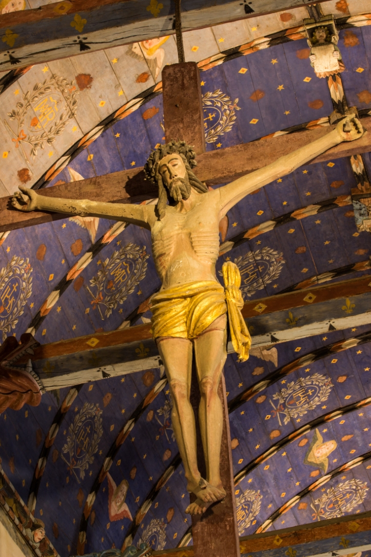The figure of Christ on the Glory Beam