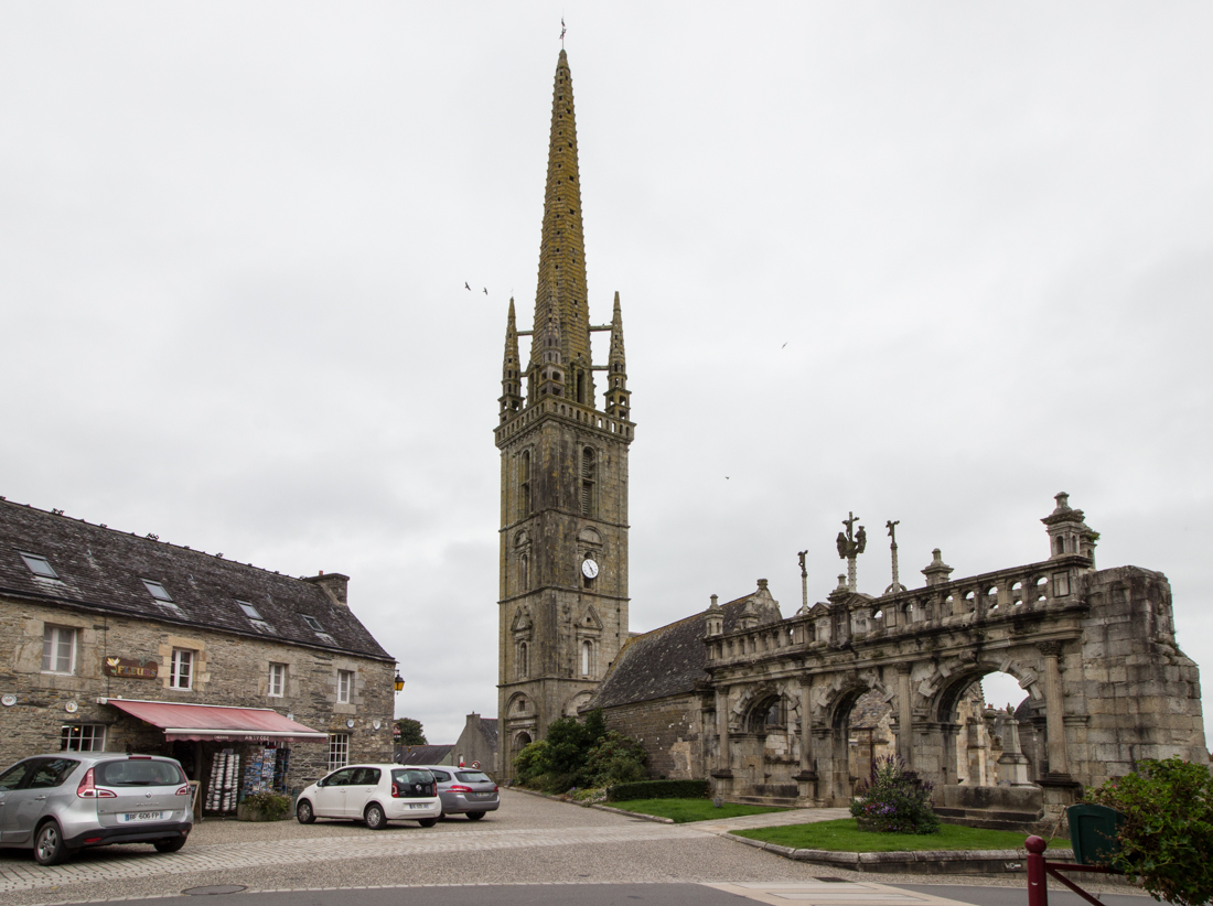 The Church of St Suliau, Sizun; the Spire and the Triumphal Arch